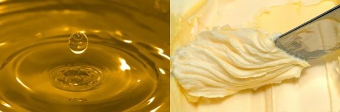 מידות וכמויות במטבח, כלי מטבח, כמויות, מידות, חמאה, שמן, המרת חמאה לשמן
