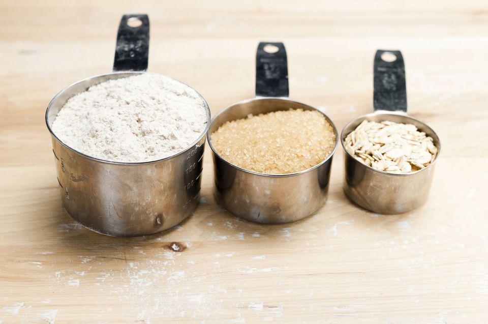 מידות וכמויות במטבח, כלי מטבח, כמויות, מידות, סוכר, מלח, קמח